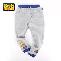 BOB童装巴布工程师春新款男童长裤宽松休闲裤男中童纯棉运动裤卫裤