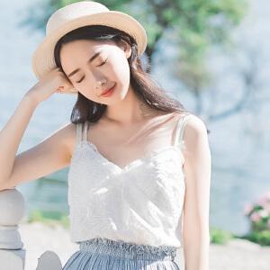 【当当年中庆】波柏龙 夏季新款高水溶刺绣吊带衫女