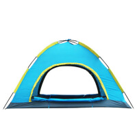 户外3-4人家庭野营帐篷套装双层露营帐篷