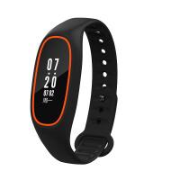 智能手环血压心率监测睡眠运动手表苹果安卓防水 橙黑