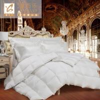 [当当自营]富安娜出品 馨而乐 床上用品 秋冬季保暖被子白鸭绒被芯 速暖羽绒冬厚被 1.8米床规格