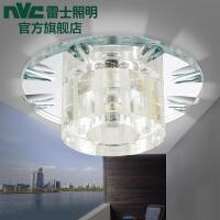 NVC 雷士照明 LED过道水晶玄关灯 2W18cm圆形玄关灯