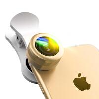【礼品卡】手机镜头广角微距鱼眼三合一单反拍照套装iphone通用外置摄像头iphone7 6plus镜头 香槟金