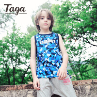 taga童装儿童纯棉背心薄款夏装男童运动上衣无袖背心2017夏季新款