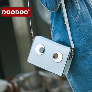 DOODOO 迷你斜挎链条包包2017新款日韩个性女包百搭小方包眼睛小包 D6169 【支持礼品卡】
