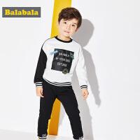 巴拉巴拉童装男童套装幼童宝宝2017春款儿童撞色长袖裤子两件套男
