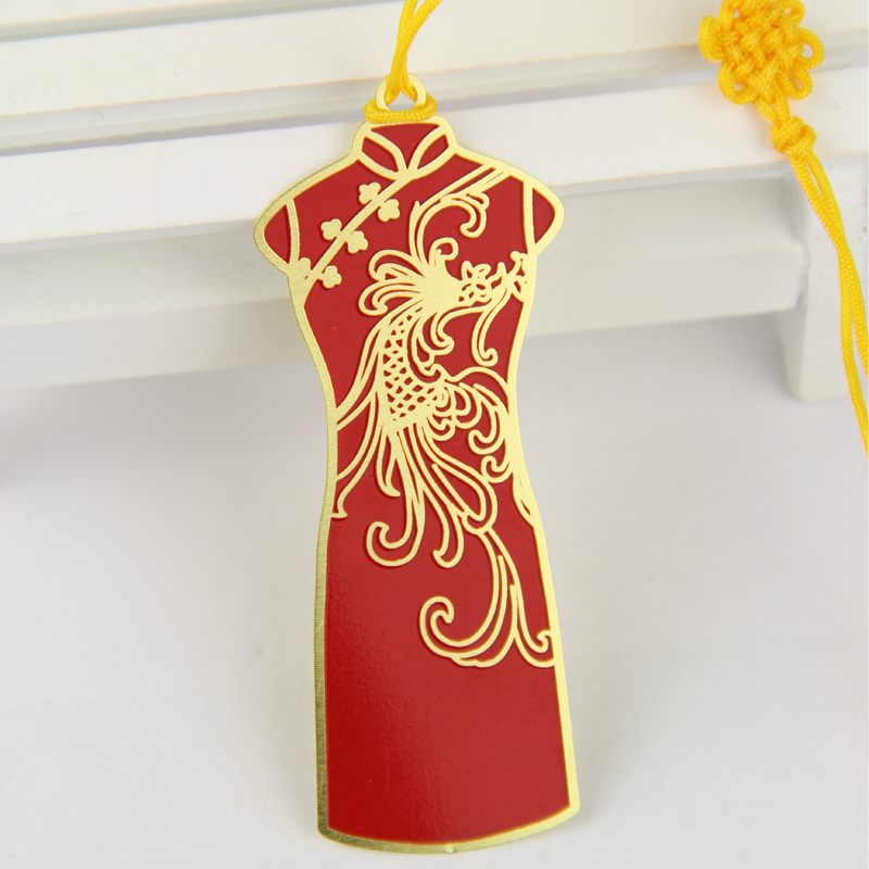 品轩阁创意书签 中国风系列金属-旗袍