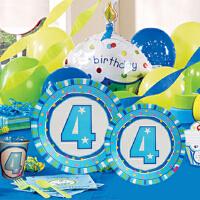孩派 儿童派对装饰用品 宝宝生日派对用品 四岁男孩主题系列