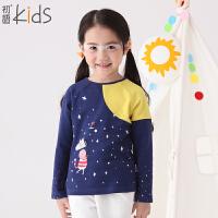 初语童装 冬装新款 女童打底衫 长袖儿童T恤 T5301110282