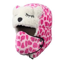 冬季户外儿童雷锋帽护耳防寒宝宝帽子保暖可爱男女童口罩