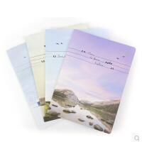 晨光文具 缝线本 852诗与远方装笔记本 学生日记 记事本子 48页