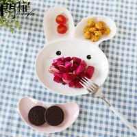 门扉 儿童餐盘 可爱创意陶瓷动物卡通碟子餐具套装分格水果早餐盘子厨房用品家居日用碗盘餐具
