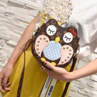女式可爱小包包2017新款女生学生单肩斜挎包猫头鹰女包个性   NN-447