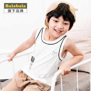 【6.26巴拉巴拉超级品牌日】巴拉巴拉旗下 巴帝巴帝男童夏季清凉背心2017新款儿童运动无袖T恤