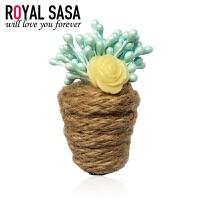 皇家莎莎RoyalSaSa日韩手工饰品个性胸花玫瑰花圣诞女复古可爱小胸针女别针HS1407SP040