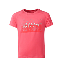 鸿星尔克(ERKE)童装儿童运动T恤 女童T恤 圆领套头T恤短袖针织衫