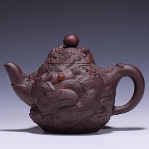 【成名之作】 研究员级高工工艺美术师 葛岳纯 《九龙至尊壶》 紫泥  GJ011