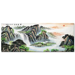 广州美院山水胡成举《源远流长》