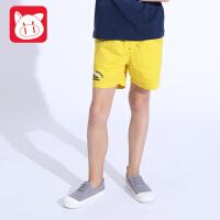 小猪班纳童装男童短裤纯棉2017夏装新款儿童运动裤中大童休闲中裤