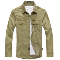 战地吉普男士加绒长袖衬衫 男装新款休闲加厚保暖衬衣男装6f1388加绒
