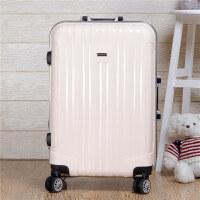 镜面铝框万向轮拉杆箱学生行李箱20寸24寸箱包男女密码箱潮旅行箱