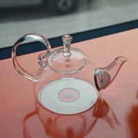 北斗正明耐热玻璃茶壶高把烧水壶花草茶壶电磁炉专用600ML明尚德