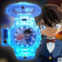 手表 智能表 户外多功能电子表名侦探柯南手表个性儿童表夜光男孩玩具动漫表卡通石英小学生手表