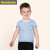 巴拉巴拉童装男童短袖T恤幼童上衣2017夏装新款儿童套头衫男