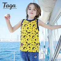 【夏装上新】  TAGA 男童2017新款男童针织背心 英伦风坎肩 休闲时尚运动背心
