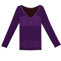 秋冬季百搭打底长袖外穿保暖上衣 美体塑身棉毛衫