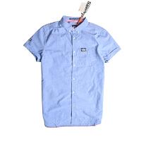 Superdry/极度干燥 男款短袖衬衣夏季新款休闲男士衬衣