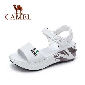 Camel/骆驼女鞋 2017夏季新款舒适休闲 厚底摇摇底露趾凉鞋女