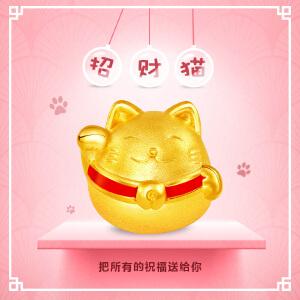 菜百首饰转运珠手链转运珠吊坠黄金转运珠招财猫转运珠 定价