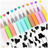 三年二班●韩国文具 奶牛彩色中性笔 可爱创意钻石水笔水性笔0.38