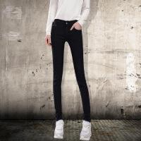 Modern idea2017新款韩版大码修身显瘦牛仔裤女装小脚裤中腰铅笔裤