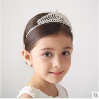 韩版公主时尚发箍百搭儿童皇冠配饰表演发饰头箍插梳式