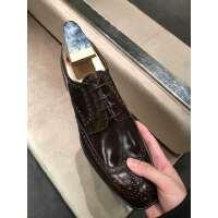 PRADA 男士方头皮鞋