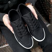 新百伦阿迪 2017春季新款男士帆布鞋百搭潮鞋学生板鞋韩版潮流黑色休闲鞋
