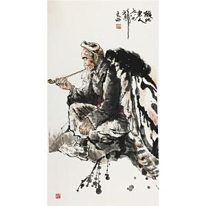 刘文西《陕北老人》著名画家