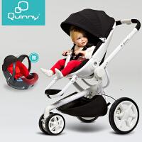 【当当自营】好孩子荷兰Quinny婴儿推车 quinny moodd 可坐可躺高景观婴儿童车轻便可折叠 爱心粉