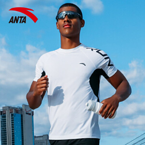 安踏男子运动T恤 2017夏季新款透气紧身速干健身跑步短袖15725157