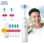 【飞利浦年中盛典】飞利浦(PHILIPS)电动牙刷HX3216/01 充电式成人超声波牙刷儿童自动震动牙刷
