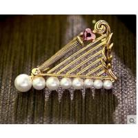 韩版时尚个性百搭珍珠胸针胸花领针精致耐用服饰配件