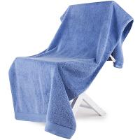 [当当自营]三利 A类加厚长绒棉 缎边大浴巾 纯棉吸水 柔软舒适 带挂绳 婴儿可用 刚蓝色