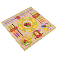 儿童教具玩具学习认识时间3-6拨动时钟表模型小学幼儿园