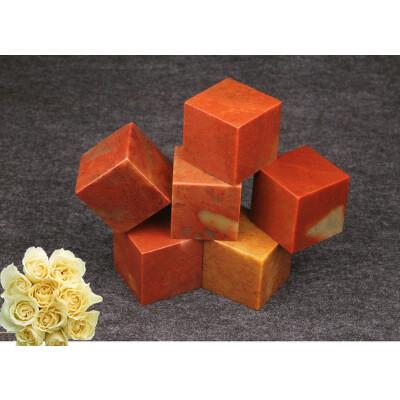 寿山石规格练习章/正方形印章石料/大号章料红色----1枚 送品jz882