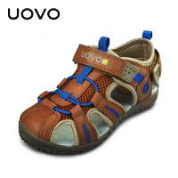 UOVO 2017儿童包头凉鞋男童女童镂空沙滩鞋新款女男夏季大中小童童鞋 圣托里尼