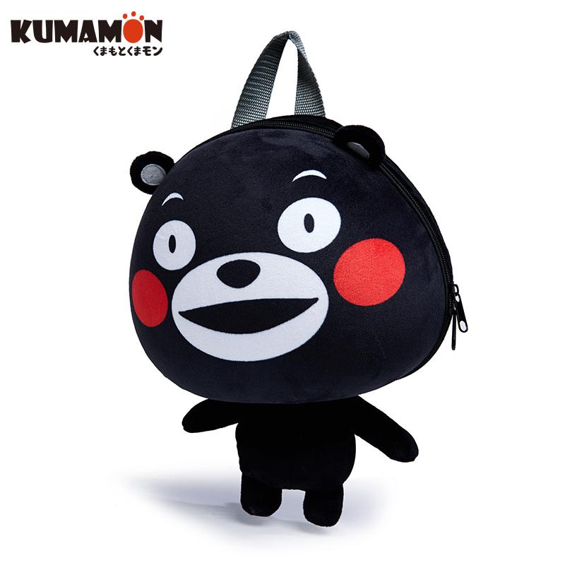 kumamon酷ma萌熊本熊大头背包 双肩包 卡通可爱包包男女儿童包 日本