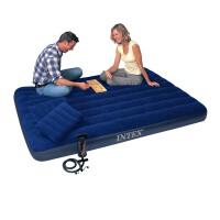 INTEX蓝色灯芯绒空气床套装68765  气垫床午休床