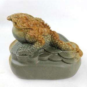 梁成劲作品 高级工艺美术师 《聚宝》砚 石色漂亮 非常难得